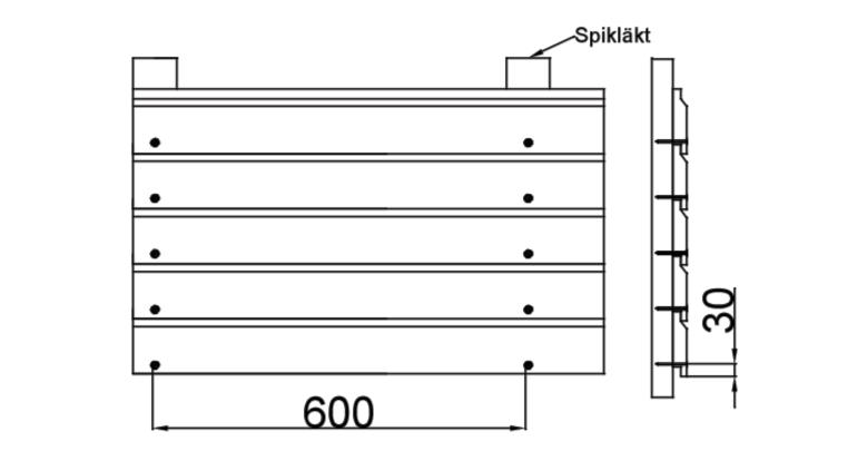 Bergslagspanel montering - Liggande Enkelfas 22x120
