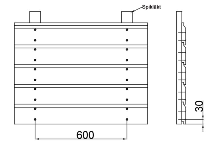 Bergslagspanel montering - Liggande Enkelfas 22x145-170