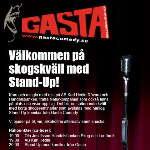 Skogskväll med Stand-Up!