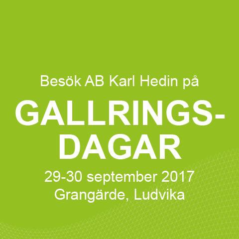 AB Karl Hedin kommer till Gallringsdagar!